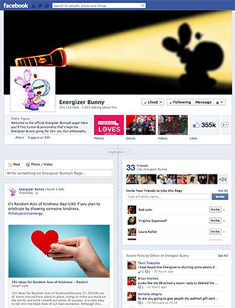 Follow Energizer on Facebook