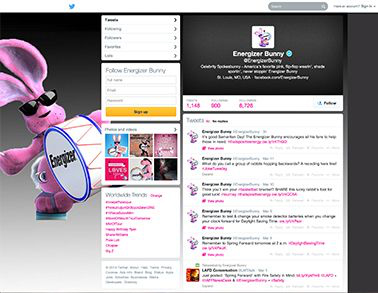 Follow Energizer on Twitter