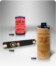 Batteries from the late 1800's