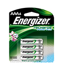 Energizer Rechargeable AAA Batteries