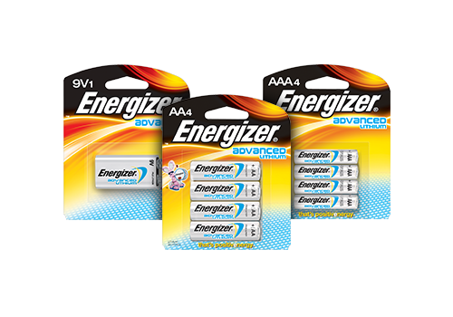 Energizer Advanced Lithium Batteries Lightweight Batteries