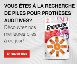 Energizer Banners hearing Batteries