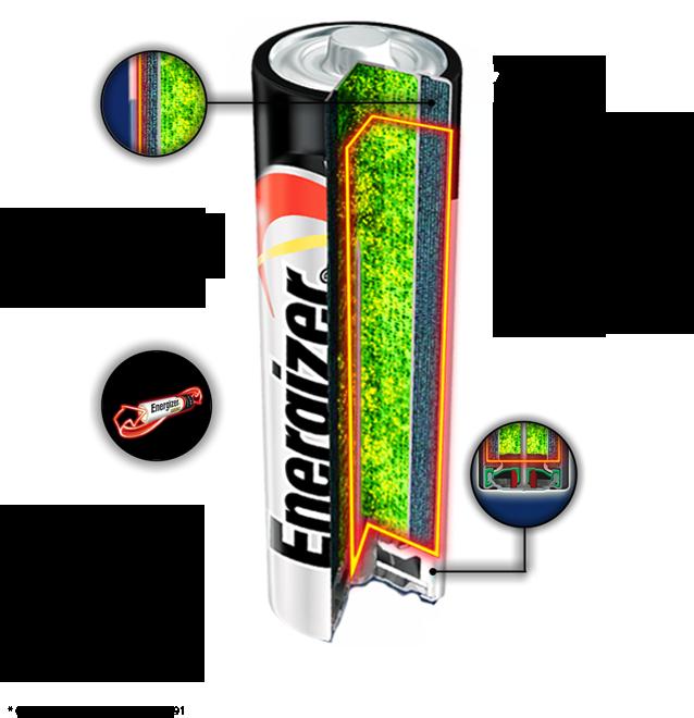 Cutaway Energizer Max AA Battery